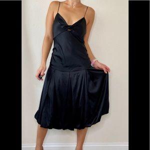 Diane von Furstenberg Black Slip On Cocktail Dress
